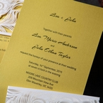 Yellow/Gold Mystic Forest Band Laser Cut - Wedding invitation - 17