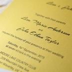 Yellow/Gold Mystic Forest Band Laser Cut - Wedding invitation - 18
