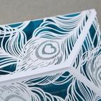 Blue Mystic Forest Laser Cut Wrap I - Wedding invitation - 51