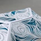 Blue Mystic Forest Laser Cut Wrap I - Wedding invitation - 52