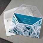 Blue Mystic Forest Laser Cut Wrap I - Wedding invitation - 53