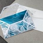 Blue Mystic Forest Laser Cut Wrap I - Wedding invitation - 54