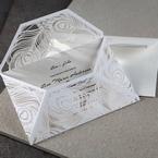 White Mystic Forest Laser Cut Wrap I - Wedding invitation - 66