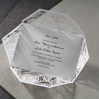 White Mystic Forest Laser Cut Wrap I - Wedding invitation - 72