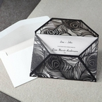 White Mystic Forest Laser Cut Wrap II - Anniversary Cards - 27