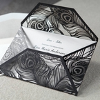 White Mystic Forest Laser Cut Wrap II - Engagement Invitations - 23
