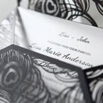 White Mystic Forest Laser Cut Wrap II - Engagement Invitations - 24