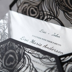 White Mystic Forest Laser Cut Wrap II - Engagement Invitations - 25