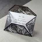 White Mystic Forest Laser Cut Wrap II - Engagement Invitations - 26