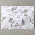White Lily Blossoms Laser Cut Wrap - Corporate Invitation - 27