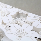 White Lily Blossoms Laser Cut Wrap - Anniversary Cards - 94