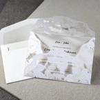White Lily Blossoms Laser Cut Wrap - Hens Night Invitations - 27