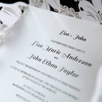 White Lily Blossoms Laser Cut Wrap - Wedding invitation - 60
