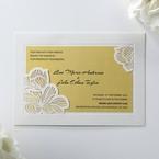Yellow/Gold Laser Cut Flower Frame III - Wedding invitation - 26