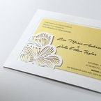 Yellow/Gold Laser Cut Flower Frame III - Wedding invitation - 28