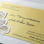 Yellow/Gold Laser Cut Flower Frame III - Wedding invitation - 29