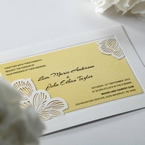 Yellow/Gold Laser Cut Flower Frame III - Wedding invitation - 30