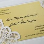 Yellow/Gold Laser Cut Flower Frame III - Wedding invitation - 32