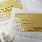 Yellow/Gold Laser Cut Flower Frame III - Wedding invitation - 35