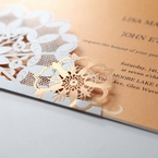 Orange Laser Cut Floral Frame - Corporate Invitation - 60