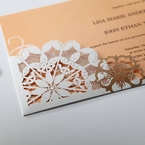 Orange Laser Cut Floral Frame - Corporate Invitation - 62