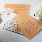 Orange Laser Cut Floral Frame - Corporate Invitation - 66