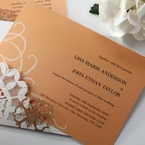 Orange Laser Cut Floral Frame - Corporate Invitation - 67