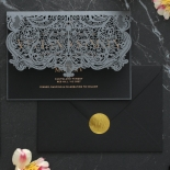 Royal Lace Lasercut Half Fold - Wedding Invitations - PWI116142-F-GK-7610 - 183829