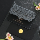 Royal Lace Lasercut Half Fold - Wedding Invitations - PWI116142-F-GK-7610 - 183830