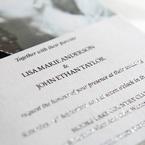 Textured blank ink on white photo invitation