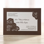 White Laser Cut Flower Frame - Wedding invitation - 37