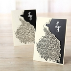 Black Peacock Laser Cut Pocket With Foil - Engagement Invitations - 12