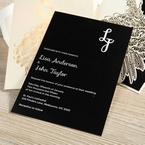 Black Peacock Laser Cut Pocket With Foil - Engagement Invitations - 21