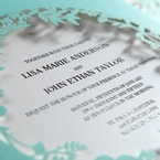 White Enchanted Forest II Laser Cut P - Wedding invitation - 52