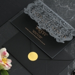 Royal Lace Lasercut Half Fold - Wedding Invitations - PWI116142-F-GK-7610 - 183831