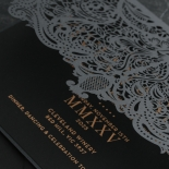 Royal Lace Lasercut Half Fold - Wedding Invitations - PWI116142-F-GK-7610 - 183833
