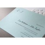 Tiffany blue inner card, thermography, blank text
