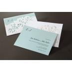 Personalised tiffany blue wedding card in white laser cut pocket