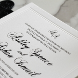 Black Foil with Letterpress Border - Wedding Invitations - WP319BF - 183816