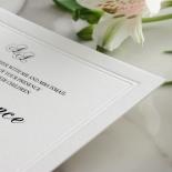 Black Foil with Letterpress Border - Wedding Invitations - WP319BF - 183817