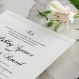 Black Foil with Letterpress Border - Wedding Invitations - WP319BF - 183818