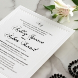 Black Foil with Letterpress Border - Wedding Invitations - WP319BF - 183819
