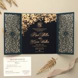 Navy Botanical Gate - Wedding Invitations - PWI116022-NV-SV - 183958