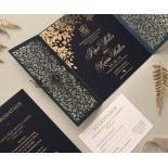 Navy Botanical Gate - Wedding Invitations - PWI116022-NV-SV - 183959