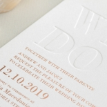 Blind Letterpressed WE DO with Foil - Wedding Invitations - WP010FBR-EB - 183865