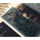 Navy Botanical Gate - Wedding Invitations - PWI116022-NV-SV - 183961