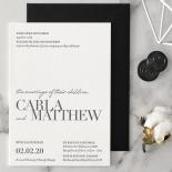 Black Letterpress - Wedding Invitations - WP-IC55-LP-01 - 184190