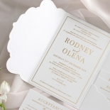 Mesmerising Solid White Pocket - Wedding Invitations - WPSP-01 - 183838