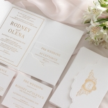Mesmerising Solid White Pocket - Wedding Invitations - WPSP-01 - 183839