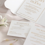 Mesmerising Solid White Pocket - Wedding Invitations - WPSP-01 - 183840